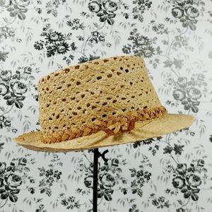 Vintage Italian straw fedora hat